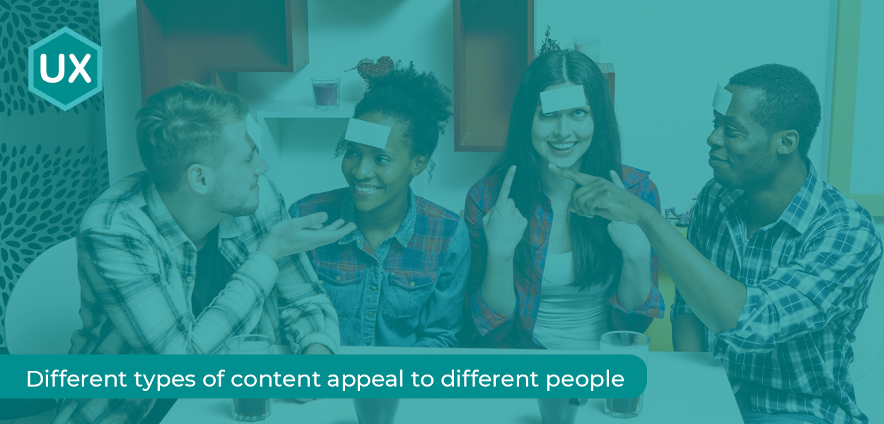 Buyer Personas - Different types of content appeal to different people.