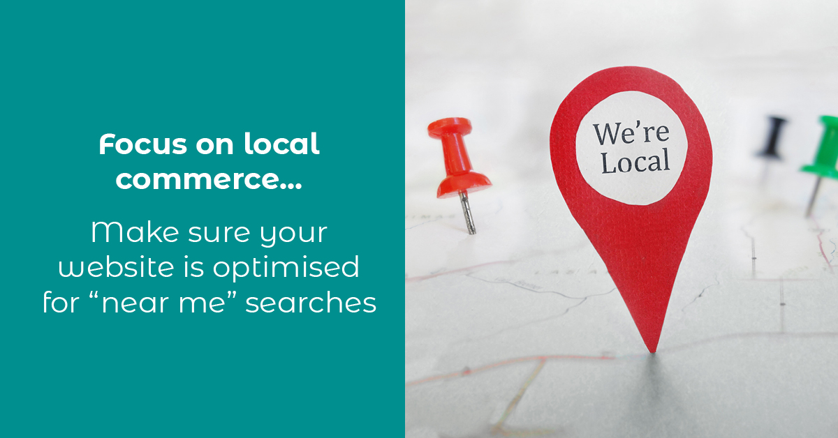 Focus on local commerce