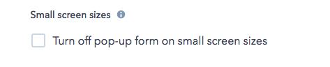 HubSpot Pop-up Form Options